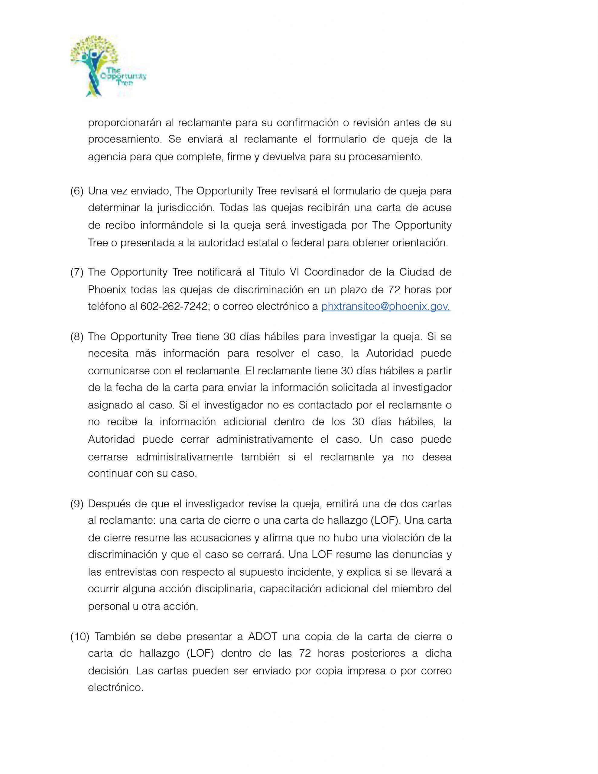 2-Title VI Complaint Procedure_Spanish