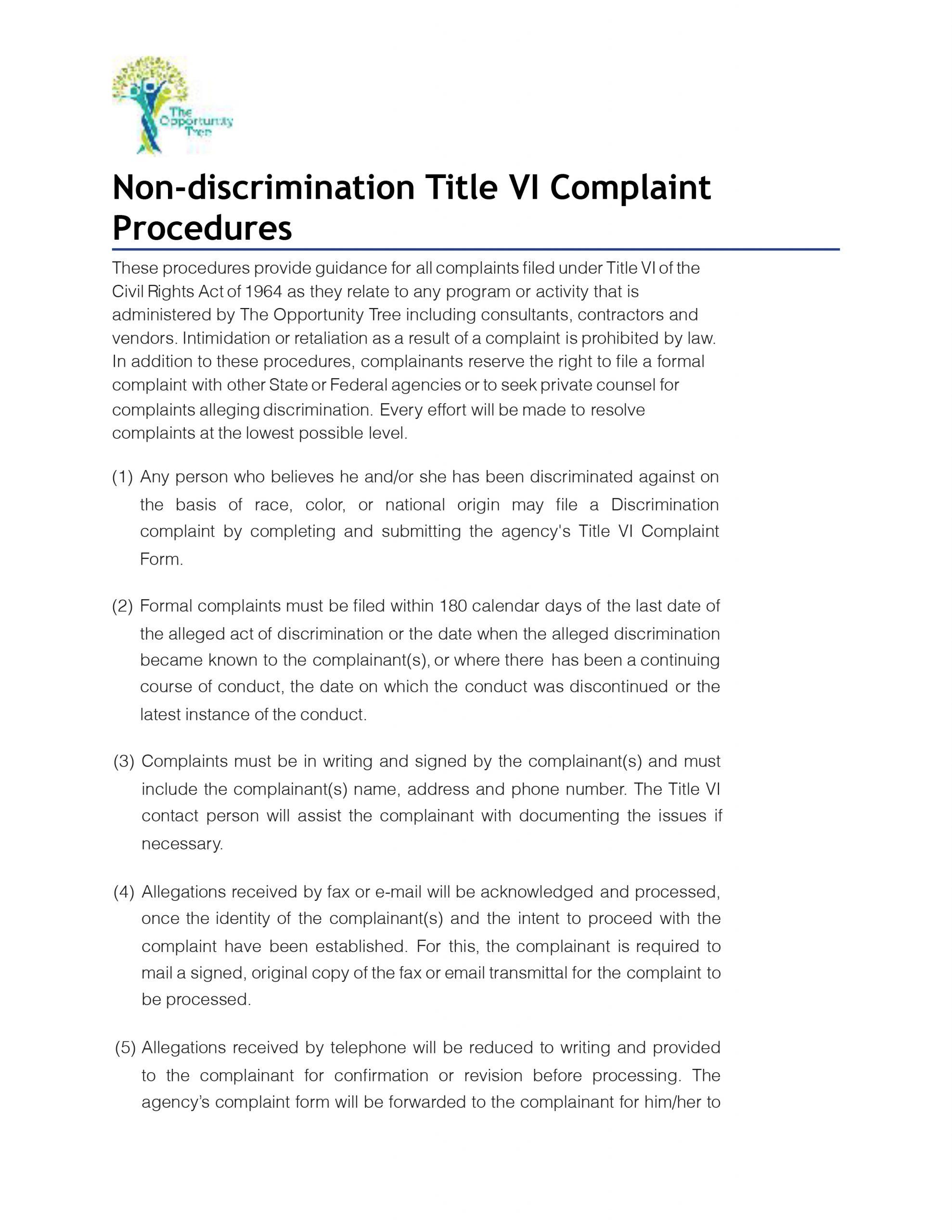 2-Title VI Complaint Procedure